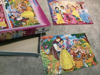 2 x walt disney stories puzzle jigsaw princess------smoke free home