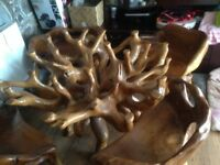 Tree root table and 4 chairs