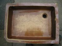 "Dennis Ruabon Original Antique Salt Glazed Sink Unit . Approx size 24""x18""x6"""