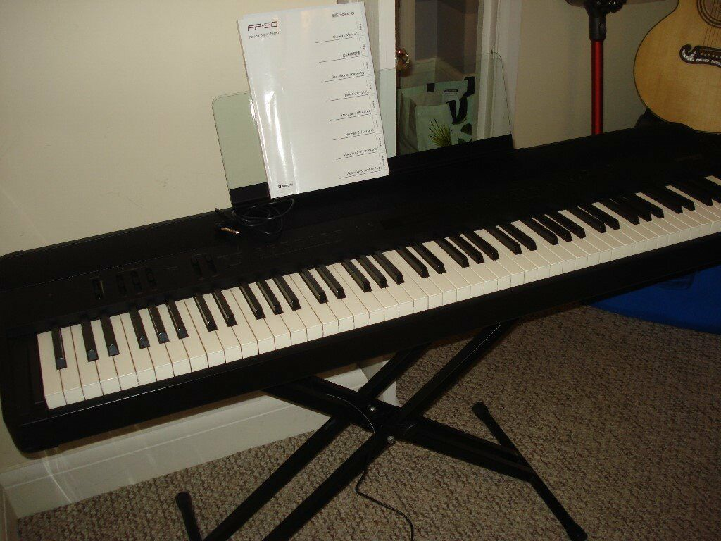 roland fp 90 digital piano black in romford london gumtree. Black Bedroom Furniture Sets. Home Design Ideas