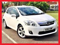 (Nice & White)-- 2011 Toyota Auris 1.8 T4 HyBrid AUTO --- Low 67800 Miles ---alternate4 toyota prius