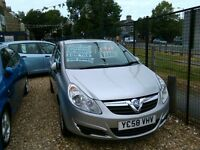 2008Vauxhall corsa 1.2 75.000 miles very tidy car inside and out