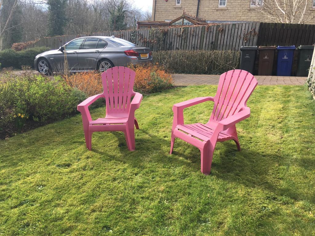 Pink Garden Furniture 2 pink garden chairs free in dodworth south yorkshire gumtree 2 pink garden chairs free workwithnaturefo