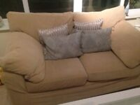PAIR OF SOFAS BY NEXT. THREE SEATER PLUS TWO SEATER LOVELY CONDITION.