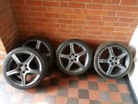 Alloy wheels 5 spoke grey/black