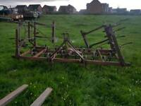 Tractor triple k cultivator with rear levelling bar suit horse arena etc