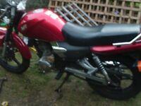 motoroma sk125cc 2012 plate mot'd till may 2017