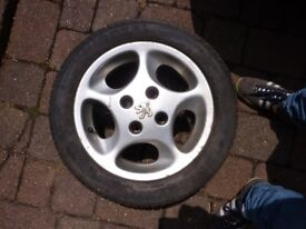 Peugeot Alloy Wheel with UNIROYAL tyre 175/60/R14
