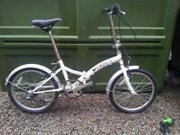 Saxon folding bike white same as Intagra Safari Bike Halfords £50