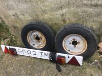 Trailer wheels & trailer board !
