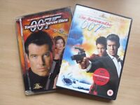 TOMORROW NEVER DIES & DIE ANOTHER DAY DVDS