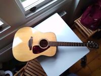Yamaha FG700S Guitar (with case, strap & spare strings)