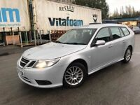 57 plate - Saab 9-3 - Linear Se -Esate - strong service history - half leather seats