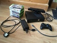 Xbox 360 with Kinect, 1 controller, 12 games, 250GB