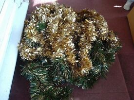 Chunky long length Christmas tinsel