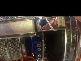 2 Audiobahn AW1205N Subwoofers 1000W, Juice 3000w amp + alpine sub box