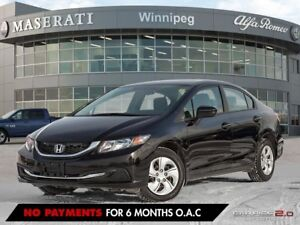 2014 Honda Civic LX: ACCIDENT FREE & ON WARRANTY