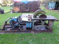LISTER PETTER DIESEL SAW BENCH, LOGGING LOGS