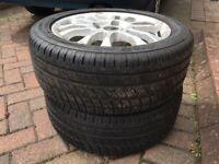 Part Worn Tyres set of 4 on Alloy Rims (Rims need refurb)