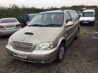 53 REG KIA SEDONA LS DIESEL VERY LOW MILEAGE 64000 FROM NEW 1 YRS MOT DRIVES LIKE NEW IN VGC PX WELC