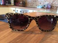 Ladies vans sunglasses leopard print