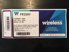Wireless ticket