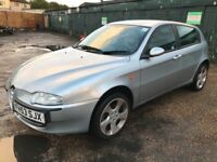 Alfa Romeo 147 T Spark Lusso 1970ccPetrol 5 speed manual 5 door hatchback 53 Plate 21/01/2004 Silver