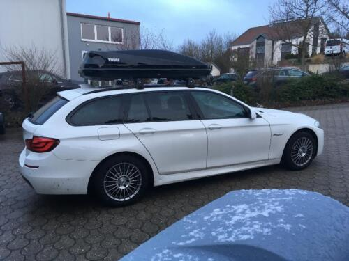 thule dachbox touring bmw 5er touring f11 g31 mieten od. Black Bedroom Furniture Sets. Home Design Ideas