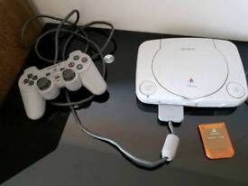 PS ONE with controller, games and memory card