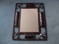Heavy metal Mirror decorative item shabby chic