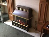 BRAND NEW - FLAVEL RENIOR FREE STANDING GAS FIRE - BRONZE IN COLOUR