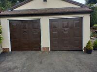 Garage doors 7ft X 7ft matching pair. cheap to clear.