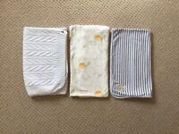 Baby blankets, 3 x