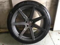 Alloys x 4 Audi RS6 20 inch 7 spoke riviera fully powdercoated in anthracite