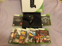 XBOX 360 - 250gb HD excellent condition with 10 games