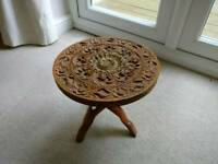Beautiful small carved wooden table