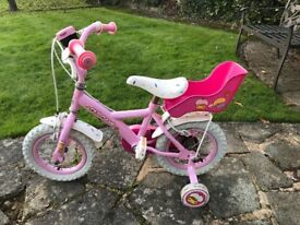 Pink Girls Bike 12 inch with Stabilisers