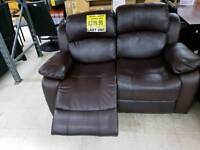 2 seater leather recliner.