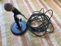 Sure SM58 microphone and desk stand