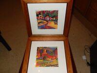Framed Landscape Picture Prints x 2
