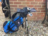 "LEFT Handed U.S.Kids Golf Clubs (45"" Blue Set) including Bag"