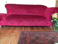 Beautiful drop arm (both), Georgian sofa in excellent condition