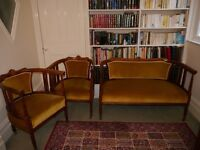 3 piece Edwardian Sofa and Chairs