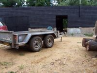 indespension plant trailer, 2.6t , 8x4, new floor, new brakes,new tyres, bradley ball hitch, £800ono