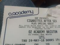 2 tickets for Cigarettes After Sex @Brixton Academy