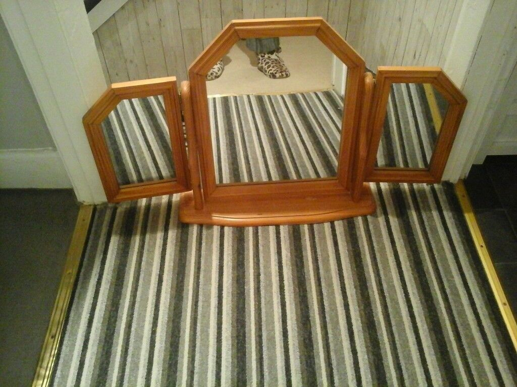 Big dressing table mirror solid pine