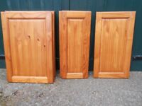 pine kitchen cupboard doors x 11 various sizes