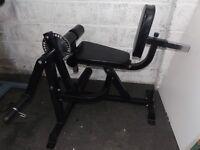 Heavy duty leg curl bench machine