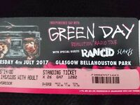 2 Green Day tickets Bellahouston Park Glasgow 04/07/2017