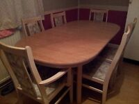 Used dining table with 6 chairs